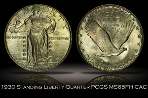 1930 Standing Liberty Quarter PCGS MS65FH CAC