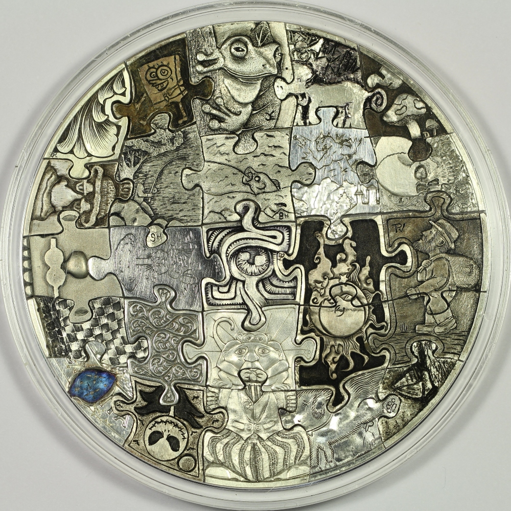 Hobo nickel style hand carved piece puzzle coin made
