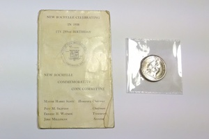 1938 New Rochelle Half Dollar w/ Original Tab Holder